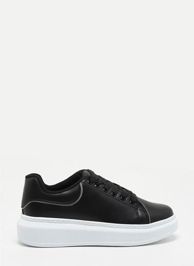 F By Fabrika Kadın Bej Sneakers VENTURA Siyah